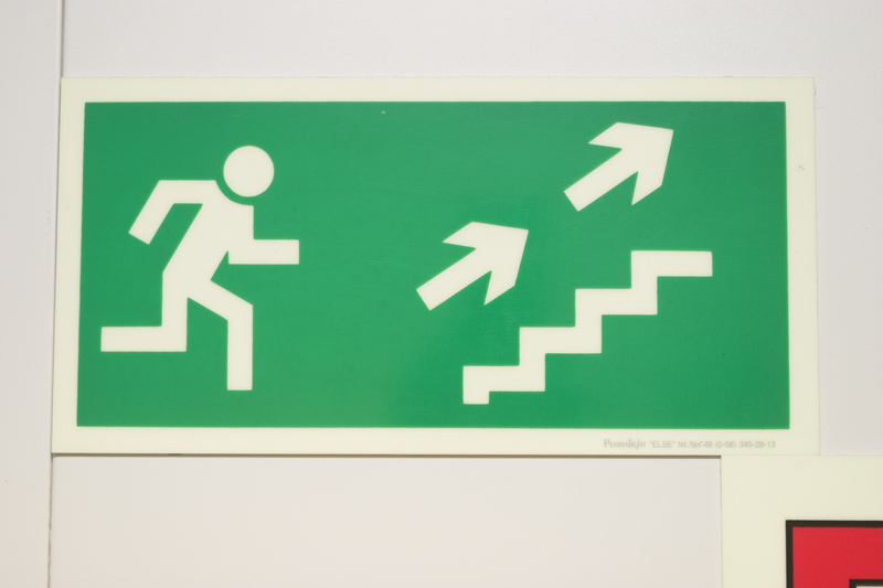 stairs sign