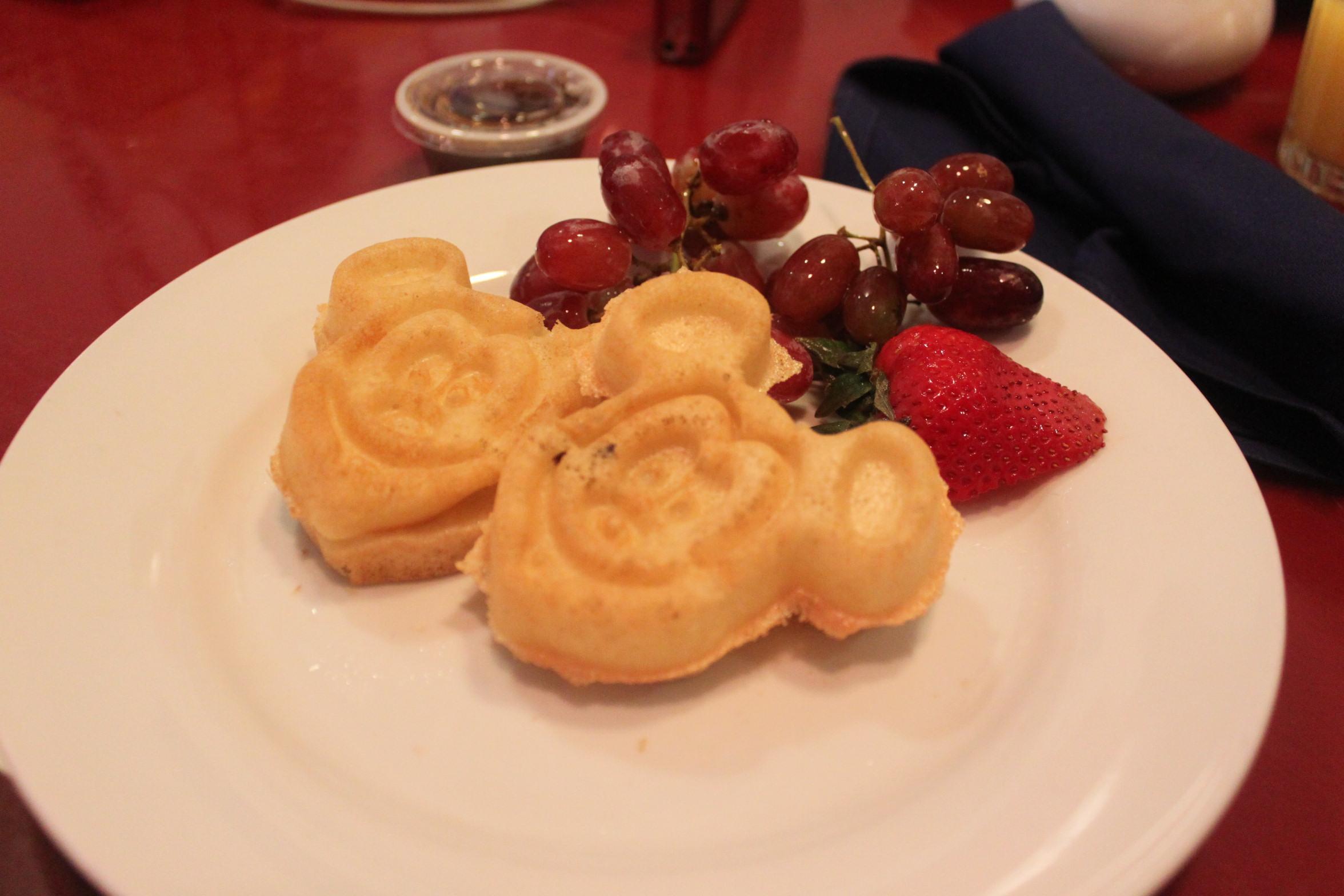 Gluten-free, dairy-free Mickey waffles