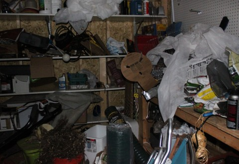 This is embarrassing, but this is our shed in it's current state!