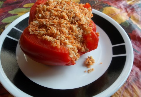 raw stuffed peppers