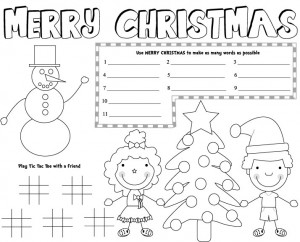 free printable christmas placemats