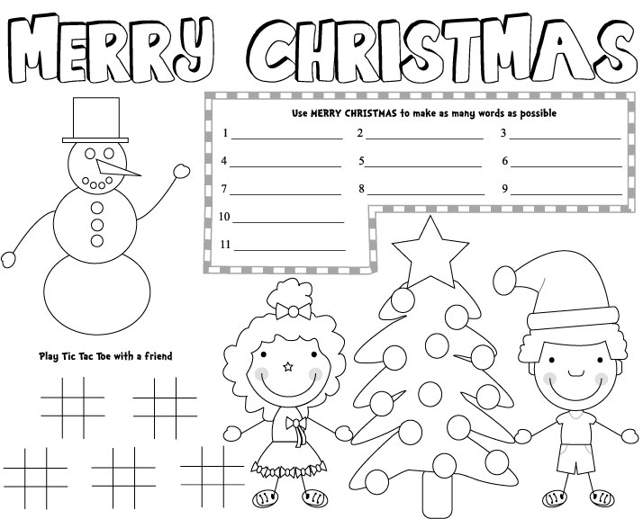 image about Printable Placemat Templates named Xmas Placemats - Impressive Homemakers