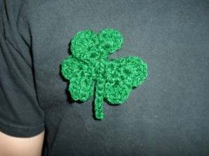 crochet shamrocks