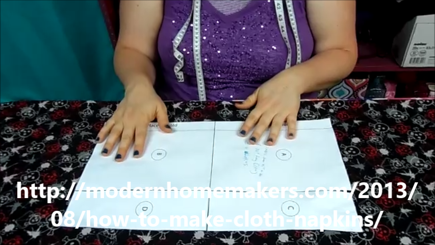 How To Make Cloth Napkins - Modern Homemakers