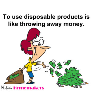 how to save money on disposable products