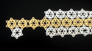 snowflake table runner, modern homemakers, tatting patterns