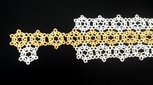 snowflake table runner, modern homemakers, tatting patterns
