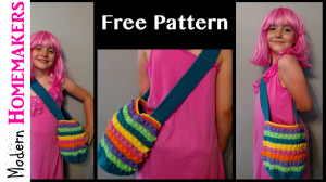 free crochet patterns, crochet lunch bag