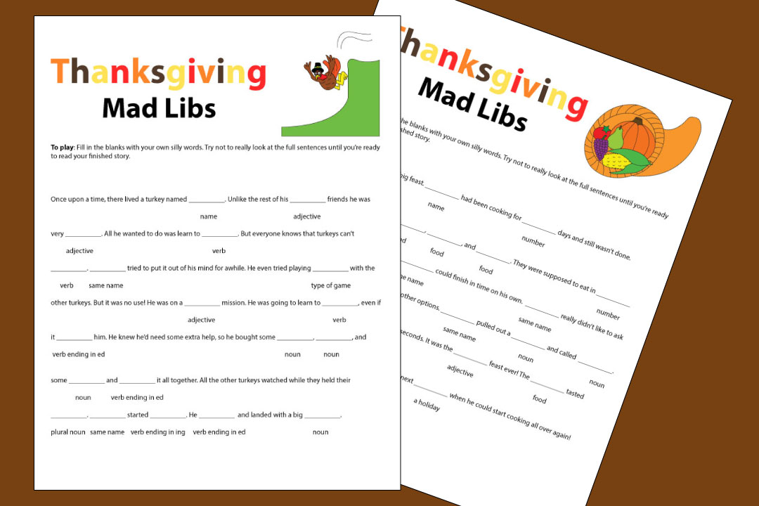 photograph relating to Mad Libs Printable Pdf referred to as Thanksgiving Outrageous Libs - Ground breaking Homemakers